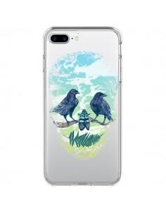 Coque Tête de Mort Nature Transparente pour iPhone 7 Plus - Rachel Caldwell