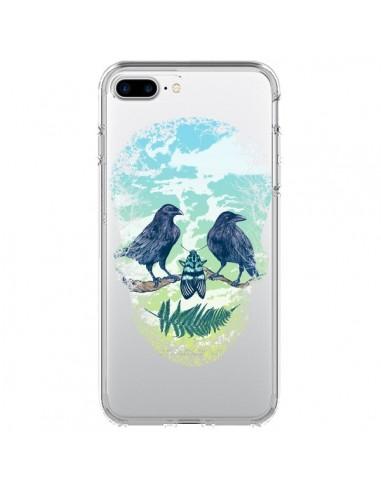 Coque Tête de Mort Nature Transparente pour iPhone 7 Plus et 8 Plus - Rachel Caldwell