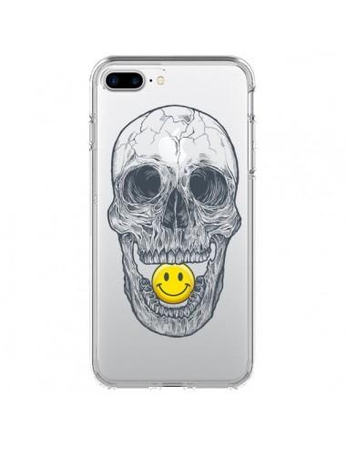 Coque Tête de Mort Smiley Transparente pour iPhone 7 Plus et 8 Plus - Rachel Caldwell
