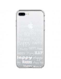 Coque Happy Happy Blanc Transparente pour iPhone 7 Plus et 8 Plus - R Delean