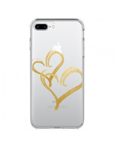 Coque iPhone 7 Plus et 8 Plus Deux Coeurs Love Amour Transparente - Sylvia Cook