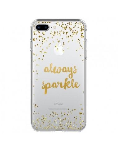Coque Always Sparkle, Brille Toujours Transparente pour iPhone 7 Plus et 8 Plus - Sylvia Cook