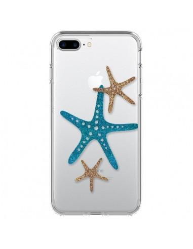 Coque iPhone 7 Plus et 8 Plus Etoile de Mer Starfish Transparente - Sylvia Cook