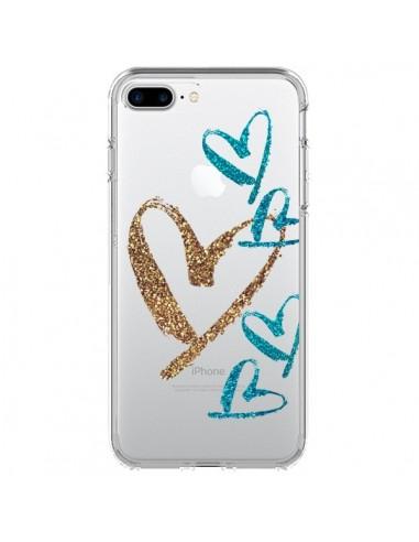 Coque Coeurs Heart Love Amour Transparente pour iPhone 7 Plus et 8 Plus - Sylvia Cook
