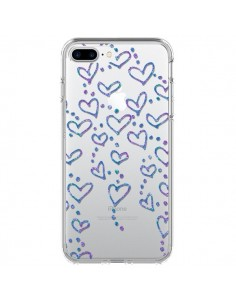 Coque Floating hearts coeurs flottants Transparente pour iPhone 7 Plus - Sylvia Cook