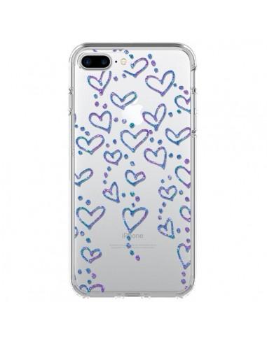 Coque iPhone 7 Plus et 8 Plus Floating hearts coeurs flottants Transparente - Sylvia Cook