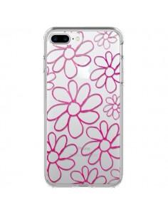 Coque Flower Garden Pink Fleur Transparente pour iPhone 7 Plus et 8 Plus - Sylvia Cook