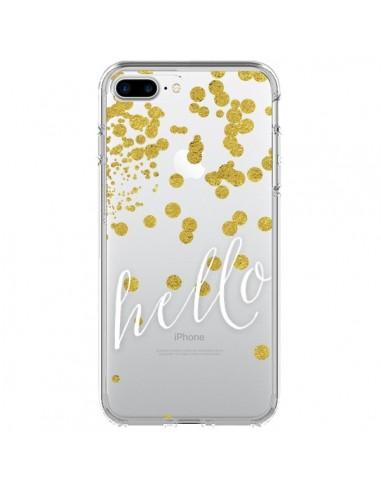 Coque iPhone 7 Plus et 8 Plus Hello, Bonjour Transparente - Sylvia Cook