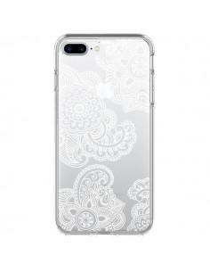 Coque Lacey Paisley Mandala Blanc Fleur Transparente pour iPhone 7 Plus - Sylvia Cook