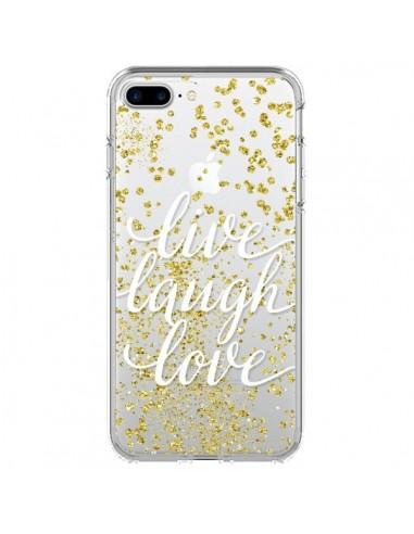 Coque Live, Laugh, Love, Vie, Ris, Aime Transparente pour iPhone 7 Plus - Sylvia Cook