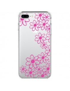 Coque Pink Flowers Fleurs Roses Transparente pour iPhone 7 Plus - Sylvia Cook