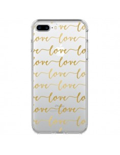 Coque Love Amour Repeating Transparente pour iPhone 7 Plus - Sylvia Cook