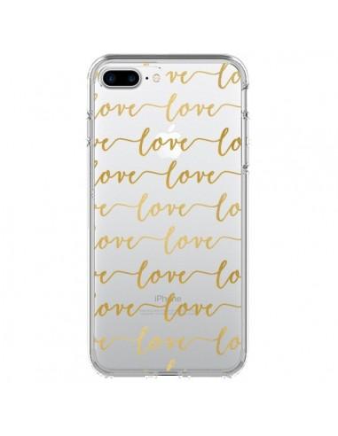 Coque Love Amour Repeating Transparente pour iPhone 7 Plus - Sylvia Cook