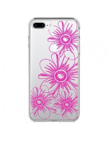 Coque iPhone 7 Plus et 8 Plus Spring Flower Fleurs Roses Transparente - Sylvia Cook
