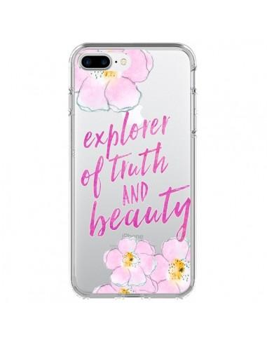 Coque iPhone 7 Plus et 8 Plus Explorer of Truth and Beauty Transparente - Sylvia Cook