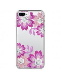 Coque Winter Flower Rose, Fleurs d'Hiver Transparente pour iPhone 7 Plus - Sylvia Cook