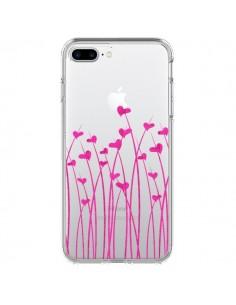Coque Love in Pink Amour Rose Fleur Transparente pour iPhone 7 Plus et 8 Plus - Sylvia Cook