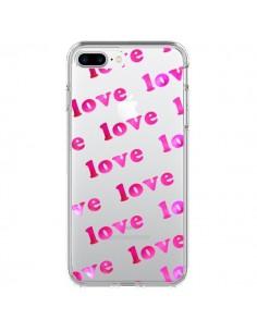 Coque Pink Love Rose Transparente pour iPhone 7 Plus et 8 Plus - Sylvia Cook