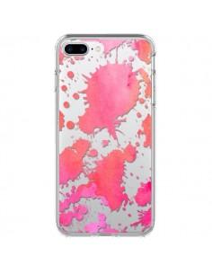 Coque Watercolor Splash Taches Rose Orange Transparente pour iPhone 7 Plus - Sylvia Cook