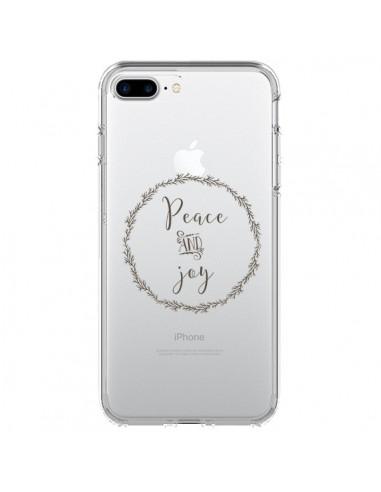 Coque iPhone 7 Plus et 8 Plus Peace and Joy, Paix et Joie Transparente - Sylvia Cook