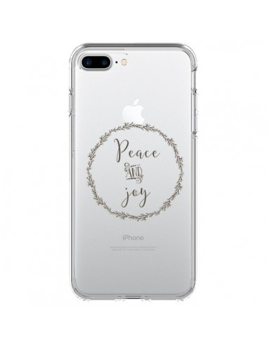 Coque Peace and Joy, Paix et Joie Transparente pour iPhone 7 Plus et 8 Plus - Sylvia Cook