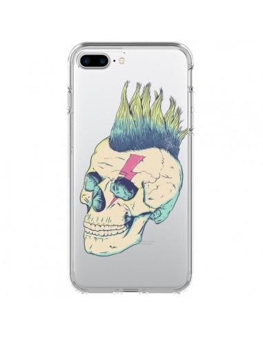 Coque iPhone 7 Plus et 8 Plus Tête de Mort Crane Punk Transparente - Victor Vercesi