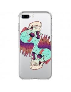 Coque Tête de Mort Crane Punk Double Transparente pour iPhone 7 Plus - Victor Vercesi