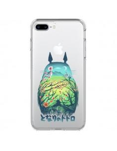 Coque Totoro Manga Flower Transparente pour iPhone 7 Plus - Victor Vercesi