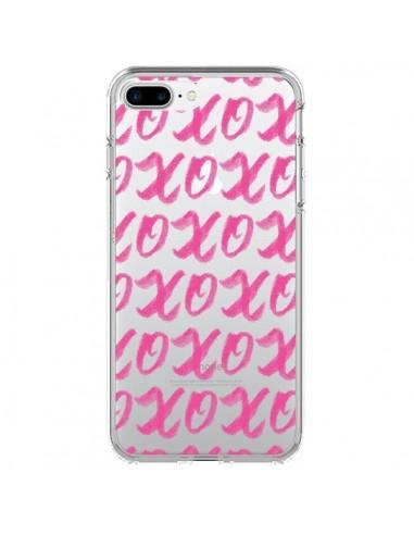 Coque iPhone 7 Plus et 8 Plus XoXo Rose Transparente - Yohan B.