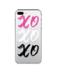 Coque XoXo Rose Blanc Noir Transparente pour iPhone 7 Plus - Yohan B.