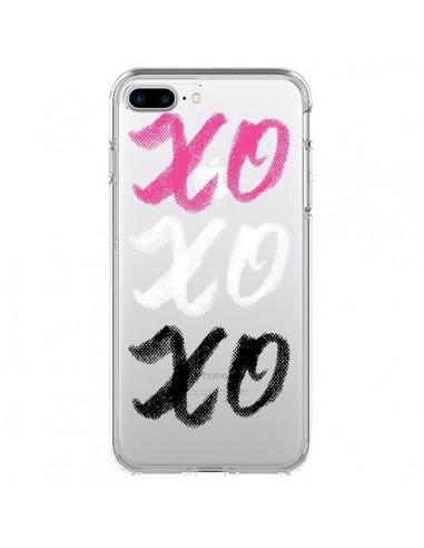 Coque XoXo Rose Blanc Noir Transparente pour iPhone 7 Plus et 8 Plus - Yohan B.