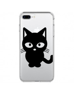 Coque Chat Noir Cat Transparente pour iPhone 7 Plus - Yohan B.