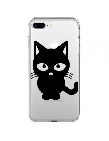 Coque Chat Noir Cat Transparente pour iPhone 7 Plus - Yohan B.