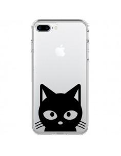Coque Tête Chat Noir Cat Transparente pour iPhone 7 Plus et 8 Plus - Yohan B.