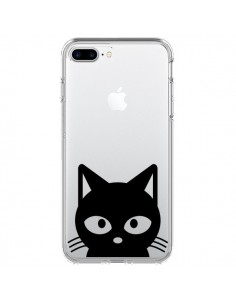 Coque Tête Chat Noir Cat Transparente pour iPhone 7 Plus - Yohan B.
