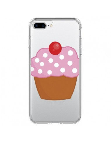 Coque Cupcake Cerise Transparente pour iPhone 7 Plus et 8 Plus - Yohan B.