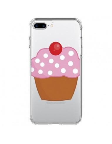 Coque Cupcake Cerise Transparente pour iPhone 7 Plus - Yohan B.