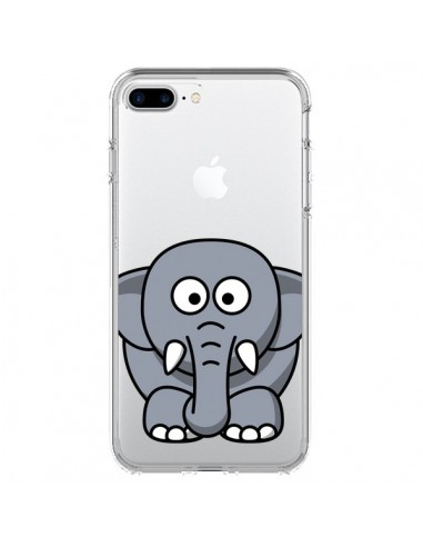 Coque Elephant Animal Transparente pour iPhone 7 Plus et 8 Plus - Yohan B.