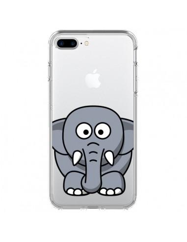 Coque Elephant Animal Transparente pour iPhone 7 Plus - Yohan B.
