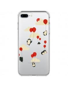 Coque Pingouin Ciel Ballons Transparente pour iPhone 7 Plus - Jay Fleck
