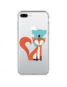 Coque Renard et Koala Love Transparente pour iPhone 7 Plus - Jay Fleck