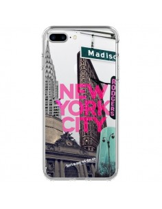 Coque New Yorck City NYC Transparente pour iPhone 7 Plus - Javier Martinez