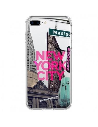 Coque New Yorck City NYC Transparente pour iPhone 7 Plus et 8 Plus - Javier Martinez