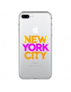 Coque New York City NYC Orange Rose Transparente pour iPhone 7 Plus - Javier Martinez