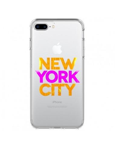 Coque New York City NYC Orange Rose Transparente pour iPhone 7 Plus - Javier Martinez
