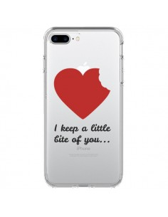 Coque I keep a little bite of you Love Heart Amour Transparente pour iPhone 7 Plus - Julien Martinez