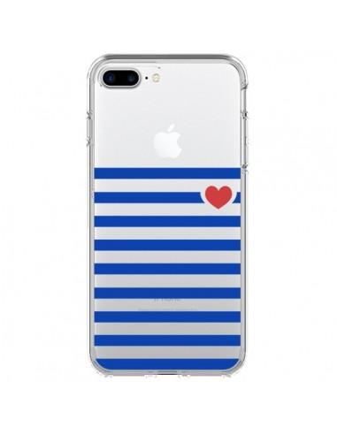 Coque Mariniere Coeur Love Transparente pour iPhone 7 Plus - Jonathan Perez