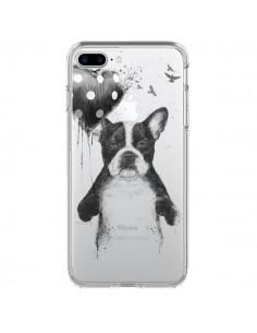 Coque Love Bulldog Dog Chien Transparente pour iPhone 7 Plus - Balazs Solti