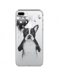 Coque Love Bulldog Dog Chien Transparente pour iPhone 7 Plus - Balazs Solti