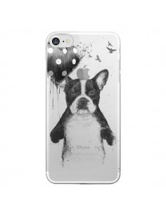 Coque Love Bulldog Dog Chien Transparente pour iPhone 7 - Balazs Solti